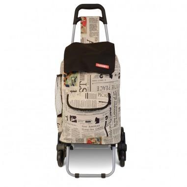 Newspaper - Chariot de Course en toile isotherme à 3 roues