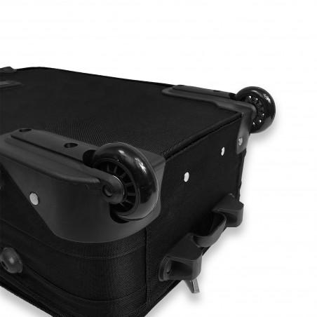 Milos - Set d'une valise cabine renforcée noire et son Vanity assorti