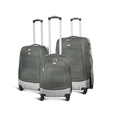 St Louis - Set de 3 valises Semi-rigides renforcées Gris Foncé