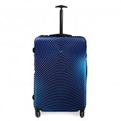 Seattle - Set de 3 valises rigides Bleues. Coque ABS motifs 3D