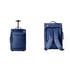 Sac à Dos convertible Bagage Trolley à roulettes Bleu 50cm