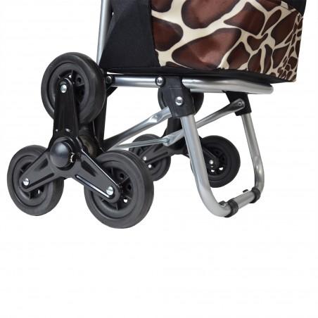 Chariot de course Motif Girafe - 3 roues - Extra light -21Litres - Jungle Power