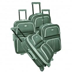 CAMBRIDGE BIS - Set de 4 valises textiles grises renforcées 3 roues