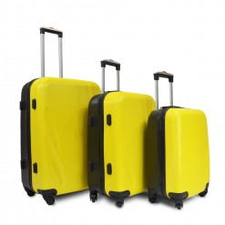 SET DE 3 VALISES ABS BICOLORE