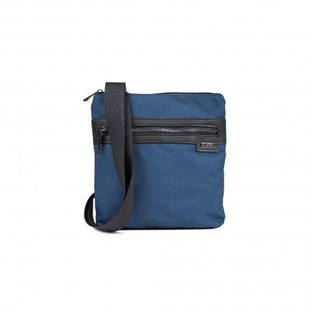 Sacoche homme sport textile bleu