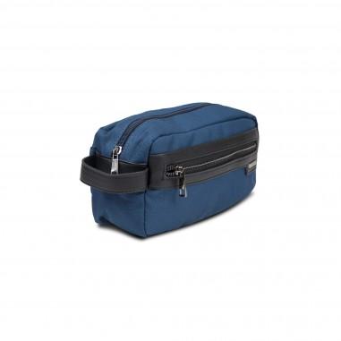 Trousse textile bleue 25X12cm