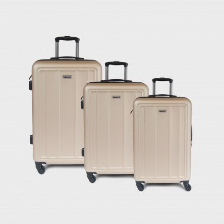 vente en gros Set valises rigides ABS coloris Champagne