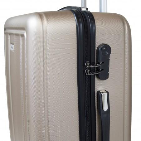 grossiste Set valises rigides ABS coloris Champagne