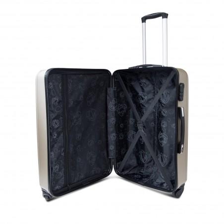 vente grossiste Set 3 valises rigides ABS coloris Champagne