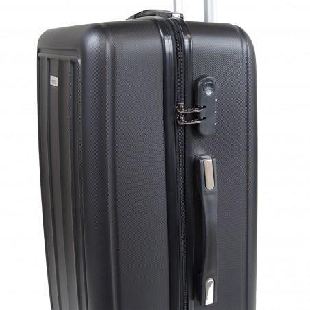 Set de 3 valises rigides ABS - noires