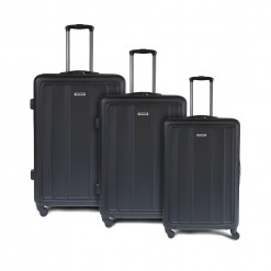 Set de 3 valises rigides ABS - noires - style business