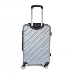 Valises rigides ABS effet 3D -serrure TSA - gris argent