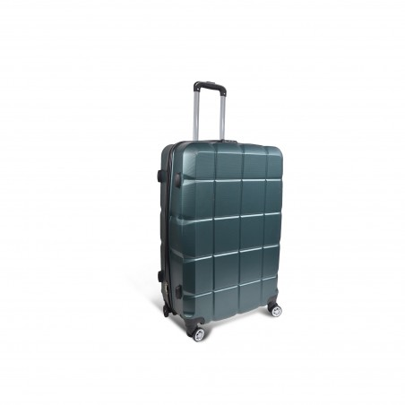 Valise rigide verte Bagage cabine 46L, 2.6Kg - 38x55x22cm