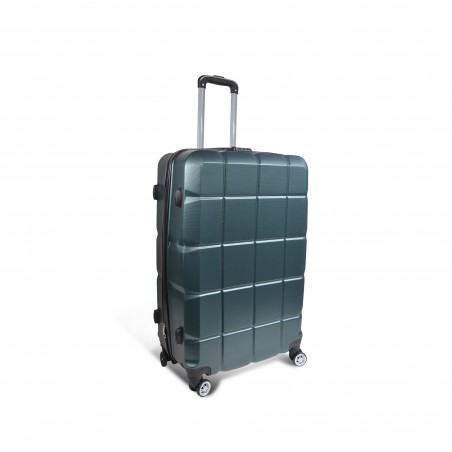 Valise rigide verte - valise medium 68L, 3.4kg - 44X65X24cm