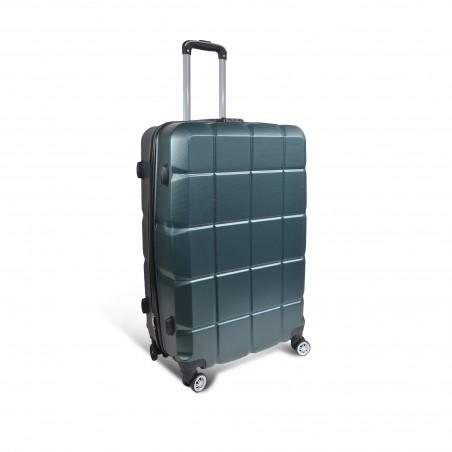 Grande valise ABS vert anglais : 100L, 4kg - 48X75X28cm