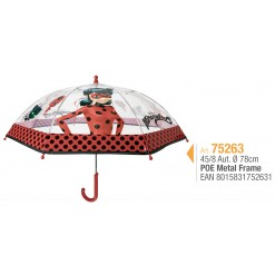 PARAPLUIE TRANSPARENT LADY BUG AUTOMATIQUE