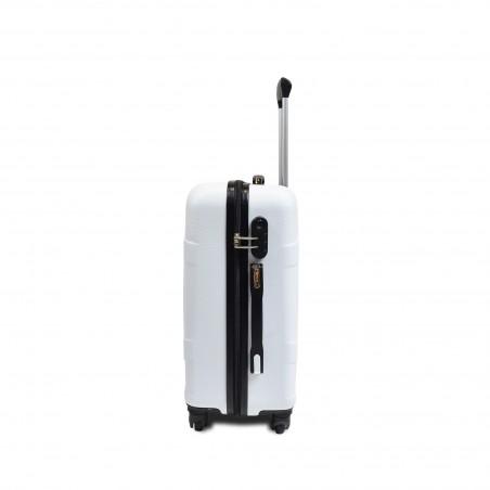 Valises Rigides blanches X3 - serrure TSA 007