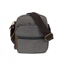 sacoche textile 20cm grise