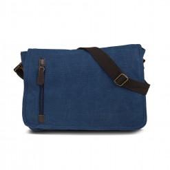 sacoche traveller en textile 35cm-bleu