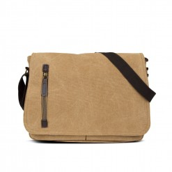 sac messager en textile 35cm - camel