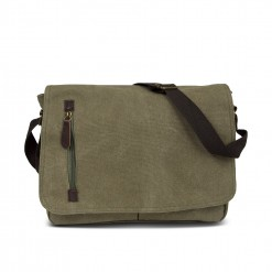 sac messager en textile 35cm - KAKI