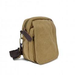 Petite sacoche textile 15cmx12cmx6cm - Camel