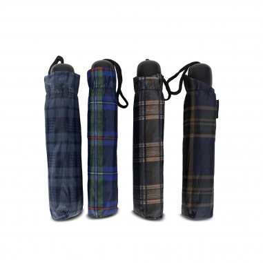 Mini parapluie manuel unisexe motif Kilt ecossais