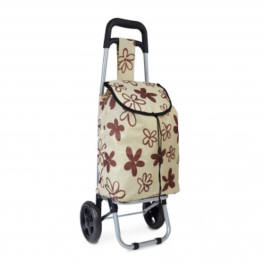 Flower Power - Beige - Chariot de course petit modèle Extra light