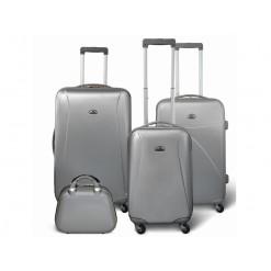 Washington - Set de 3 valises rigides + Vanity - Couleur Gris Clair