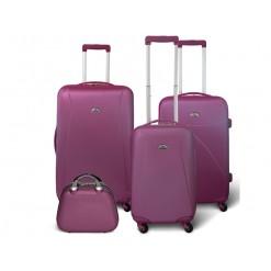 Washington - Set de 3 valises rigides + Vanity - Couleur Violette