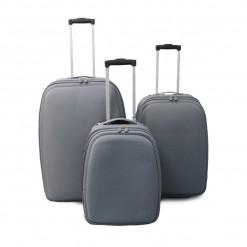 Tallinn - Set de 3 valises textile renforcé grises