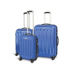 Moscou - Set de 3 valises rigides coque ABS Bleue foncé