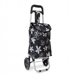 Flower Power - Noir - Chariot de course petit modèle Extra light