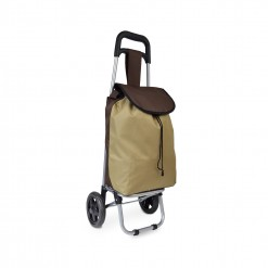 Chariot de course bicolore- Marron Beige - Petit modèle Extra light