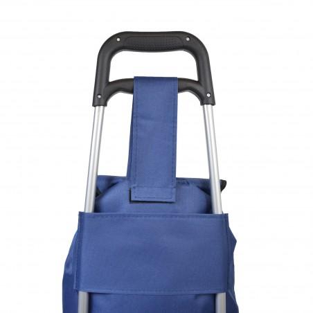 Chariot de course bicolore- Camaïeu Bleu - Petit modèle Extra light