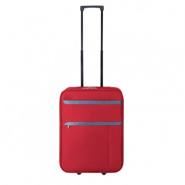 CORFOU - VALISE CABINE SOUPLE LOW COST ROUGE