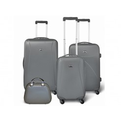 Washington - Set de 3 valises rigides + Vanity - Couleur Gris Foncé